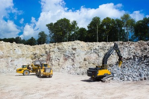 Quarrying/mining of natural gypsum