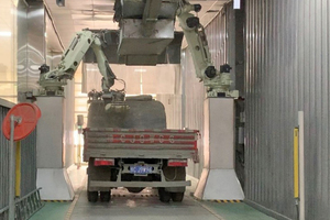 4 CUCC Luoyang's automatic truck loading machine as viewed from the loading bay