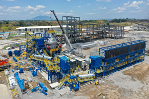 Modular cement grinding plant during erection