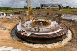 6 Construction site for a clay calcination plant in France