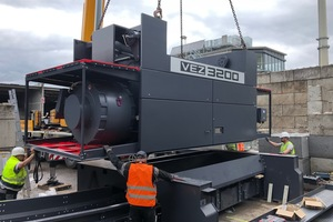 5 Vecoplan extended the system by installing an additional single-shaft pre-shredder from the VEZ 3200 series which generates material with a particle size of less than 250mm