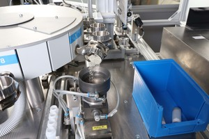 """<div class=""""bildtext_en"""">1 View into the dosing system of polab Cal. Cement and clinker powder is precisely dosed for isothermal heat flow measurements</div>"""