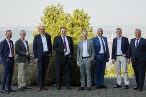 "<div class=""bildtext_en"">Executive <irspacing style=""letter-spacing: -0.005em;"">Board of Deutsche Bauchemie 2021 (from left): Andreas Collignon, Joachim Straub, Dr. Clemens von Trott zu Solz, Prof. Dr. Josef Felixberger,</irspacing> Dr. Hubert Motzet, Andreas Wilbrand, Dr. Dieter Köster, Norbert Schröter, Dr. Christoph Hahner (missing from the photo are Dirk Sieverding, Johann Hafner, Alexander Gänsler and Dr.-Ing. Claus Michael Müller)</div>"