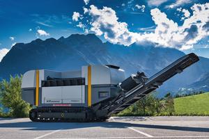 The 1-shaft shredder XR3000XC mobil-e