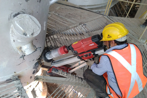 2 Core drilling during production by a trained technician