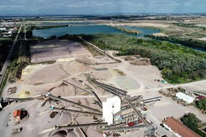The delivery quantities– here in a gravel plant– can be precisely controlled according to the order situation