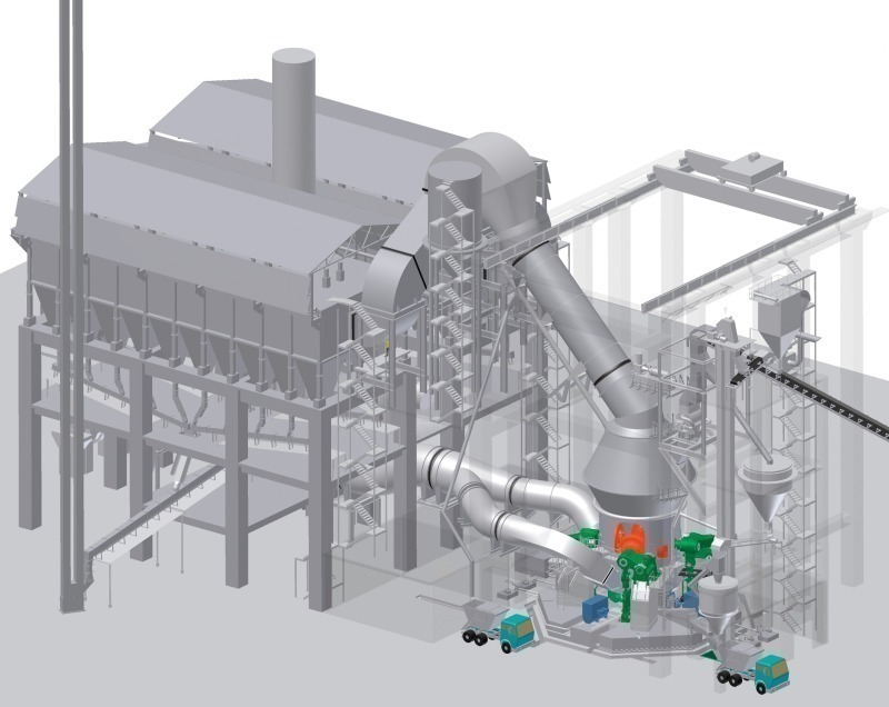 Cement Plant Grinding : The new pfeiffer roller mill mvr reliable grinding