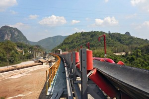 """<div class=""""bildtext_en"""">1 The troughed belt conveyor with horizontal curves and a length of 3.5km</div>"""