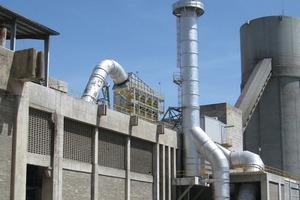 Klinkerkühlerfilter mit Luft-/Luft-Wärmetauscher bei Cementos Apasco (Scheuch)