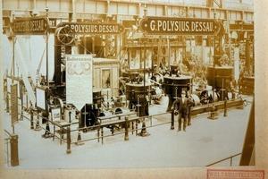 "<span class=""bildunterschrift_hervorgehoben"">3</span>World Exposition in Chicago, 1893: exhibition stand of G. Polysius iron foundry and engineering works<br />"