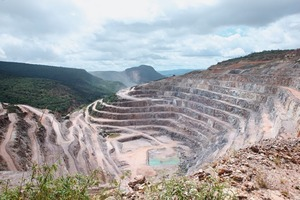 Magnesitbergbau in Brumado/Brasilien<br />