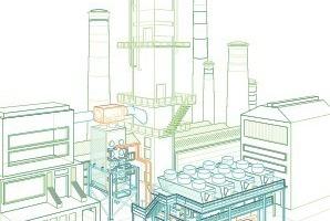 Schema einer ABB-Anlage zur Abwärmenutzung<br />