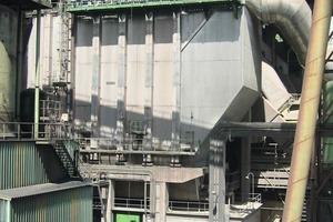 Hybridfilter zur Ofen/Rohmühlenentstaubung bei Lafarge (Elex)<br />