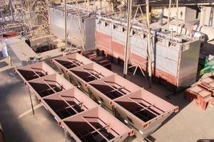 Abschluss Vormontage der Gewebefiltersektionen und Bunker<br />