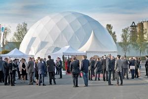 "<div class=""bildtext_en"">1 A large dome tent was the venue of the anniversary celebration</div>"