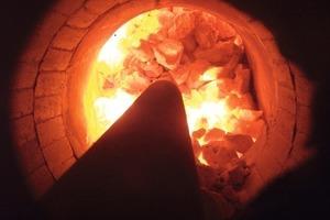 Erdgas-Brenner<br />  in der Brennkammer<br />