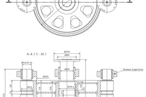 """<div class=""""bildtext_en"""">4A new design solution permitted simplified changing of the ring: the main gearwheel and flange shaft were separated. They had been a single component in the original version. The welding ring and flange shaft could then be separately machined and only joined together again as the final operation</div>"""
