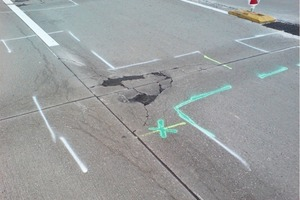 """<span class=""""bildunterschrift_hervorgehoben"""">2</span>ASR damage to a section of the federal highway A9 (2008) after 14 years in service<br />"""