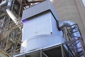 Ofen-Bypass Filter bei Castle Cement (Intensiv-Filter)<br />
