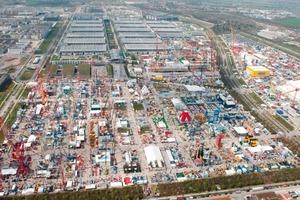 Aerial view of bauma the 2010<br />