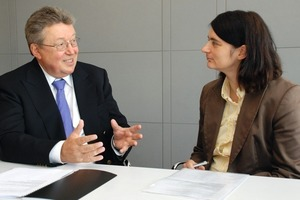 Dr. Reinhold Festge, managing shareholder of the Haver &amp; Boecker group, spoke to Dr. Petra Strunk, of ZKG INTERNATIONAL.<br />