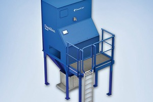 """<div class=""""bildtext_en"""">3 The new compact PowerCore<sup>®</sup> dust collectors make it possible to cut fine particulates emissions and simultaneously reduce the raw gas volume of the dust collecting systems</div><div class=""""bildtext_en"""">critical for explosion safety </div>"""