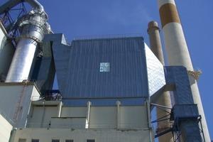Schlauchfilter in semi-offline Betrieb (Elektrofilter Retrofit, Deuna Zement/Deutschland) <br />