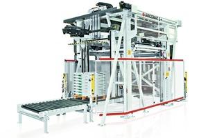 """<div class=""""bildtext_en"""">1 Portal robot Arcomat 3+ for palletizing of paper sacks</div>"""