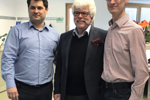 """<div class=""""bildtext_en"""">Wolfgang Hammer, Hans Joachim Grieb and Dr. Stefan Kern (f.l.t.r)</div>"""