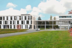 """<div class=""""bildtext_en"""">Architectural rendering of the Start-Up Accelerator building in Lyon</div>"""