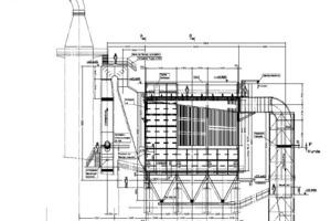 Vormontierte Filterkopfmodule (inkl. neuem Penthouse) auf dem Elektrofilter-Gehäuse<br />