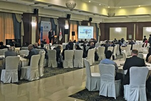 """<div class=""""bildtext_en"""">The VDMA Symposium in Tehran under the title """"Technological Solutions for the Cement and Minerals Industry in Iran""""</div>"""