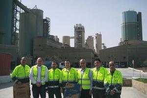 Das Team von Mondi und Lafarge in Jordanien
