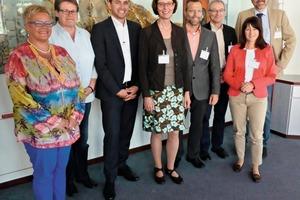 """<div class=""""bildtext_en"""">7 Satisfied with the field trip's resonance: Ute Bergenthal, Dyckerhoff GmbH; Anne Passen, Aumund Fördertechnik GmbH; Marc Doeffer, Köppern GmbH &amp; Co. KG; Dorothea Tacke, Refratechnik Cement GmbH; Peter Norek, FLSPfister GmbH; Dr.Ulrich Zielinski, Refratechnik Cement GmbH; Anett Fischer, ZKG; and Martin Bollongino, Schenk Process GmbH (from left)</div>"""