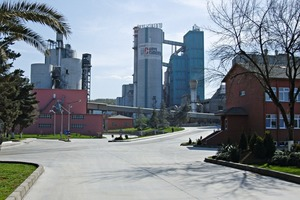 The Unye cement plant lies in Turkey on the shore of the Black Sea