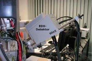 "<span class=""bildunterschrift_hervorgehoben"">6</span>Silicon Drift Detector (SDD)-EDX-Detector Apollo 40 (40 mm<sup>2 </sup>– SDD Chip) with a high collection efficiency installed at NanoSEM<br />"