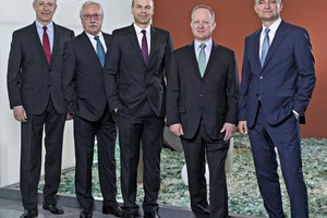 "<div class=""bildtext_en"">The Schwenk Zement KG board (left to right): Eduard Schleicher, Gerhard Hirth, Gerhard Kaminski, Dr. Stefan Fink, ThomasSpannagl</div>"