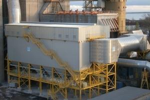 ProJet mega<sup>®</sup> 136/36-8000 D (Doppelfilter, semi-offline, turn- key Projekt HeidelbergCement, Cementa Slite, Schweden, IBN 11/2009, Produktabscheidung aus Drehrohrofen- und Rohmehlmühlenabgas, 1,2 Mio. m<sup>3</sup>/h i.B., Staubanfall bis 600 t/h) <br />