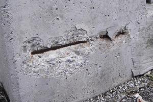 Schaden infolge Betonkorrosion an einem Gebäudebauteil