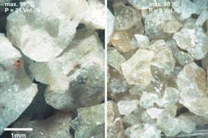 Einfluss der Granulationswassertemperatur auf die Kornmorphologie<br />