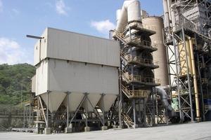 Klinkerkühlerfilter mit Luft-/Luft-Wärmetauscher bei Buxton Lime (FLS Airtech)<br />