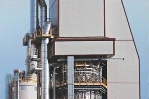 Ofen für 500 t/d und Doppelfeuerung mit Erdgas und Sägespänen für Fornaci Zulian