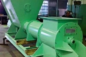 Rohrwaage WeighTUBE<sup>®</sup> RWS für 8,0 t/h in einem deutschen Zementwerk im Auslieferungszustand