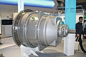 "<div class=""bildtext_en"">5 The largest model of Siemens' new planetary gearing systems Planurex 3</div>"