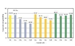 Druckfestigkeit von Mörtelprobekörpern nach 28 Tagen<br />