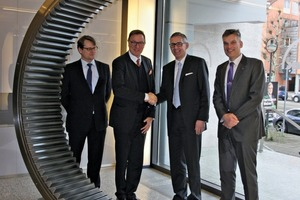 "<div class=""bildtext_en"">Renk and Loesche will market the drive concept COP together for the next 5 years. From the left: Dr. Thomas Illenseer, Dr. Thomas Loesche (both Loesche), Dipl.-Ing. Florian Hofbauer (CEO Renk), Dr.-Ing. Gottfried Braun (General Manager Special Gears Division, Renk)</div>"