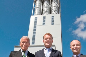Inauguration of the factory in the Russian Noginsk (from left): Prof. Dr. Hans-Wolf Sievert, Niklas Sievert and Dimitrij Komardenko<br />