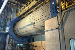1 Christian Pfeiffer ball mill Ø 4.8 x 15 m length