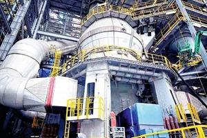 """<div class=""""bildtext_en"""">5 State-of-the-art vertical roller mill (VRM)</div>"""