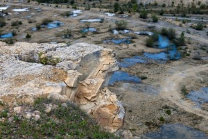 """<div class=""""bildtext_en"""">2 With its numerous small ponds, the quarry in Gerhausen bears a resemblance to the Siberian tundra</div>"""